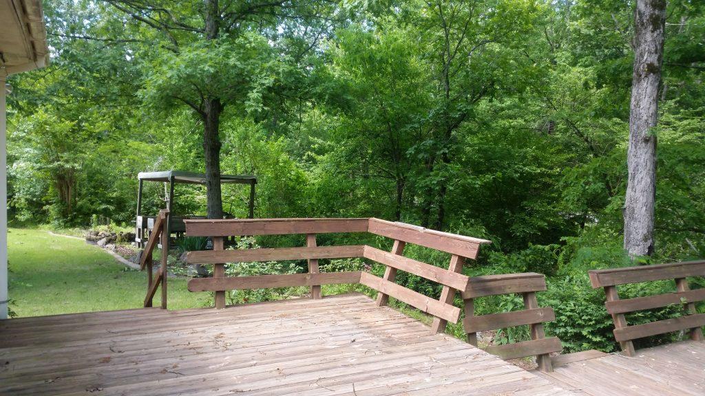 111 Little Bear Trail Hot Springs Arkansas back deck
