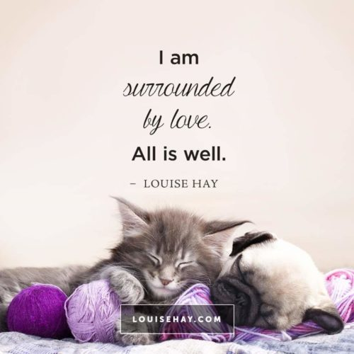 image louise hay all is well - Crystals and Pets